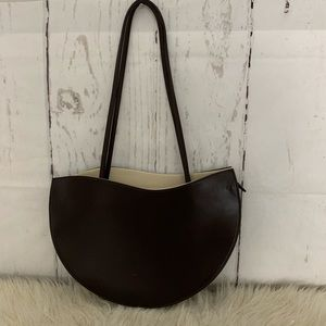 Panache Paris Brown Structured Handbag Purse